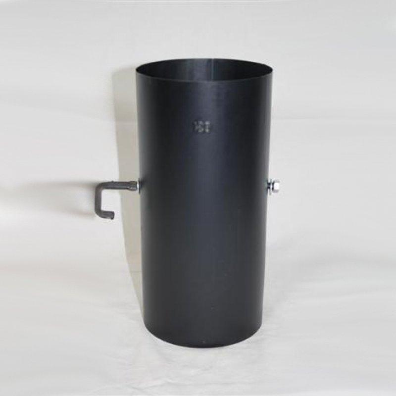 250 mm ofenrohr gebl ut mit drosselklappe. Black Bedroom Furniture Sets. Home Design Ideas