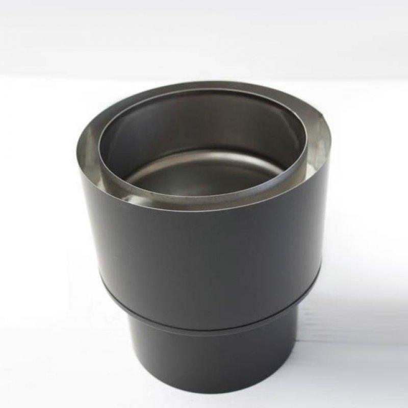 edelstahlrohr doppelwandig bergang von ofen auf verbindungsleitung ew dw dn 150 mm senotherm. Black Bedroom Furniture Sets. Home Design Ideas