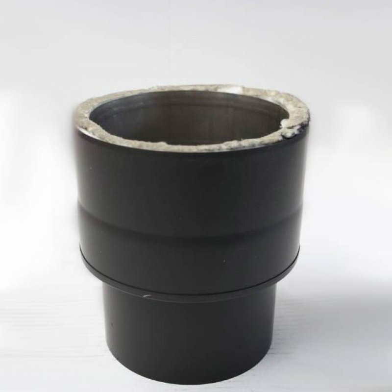 edelstahlrohr doppelwandig bergang von ofen auf verbindungsleitung dw ew dn 150 mm senotherm. Black Bedroom Furniture Sets. Home Design Ideas