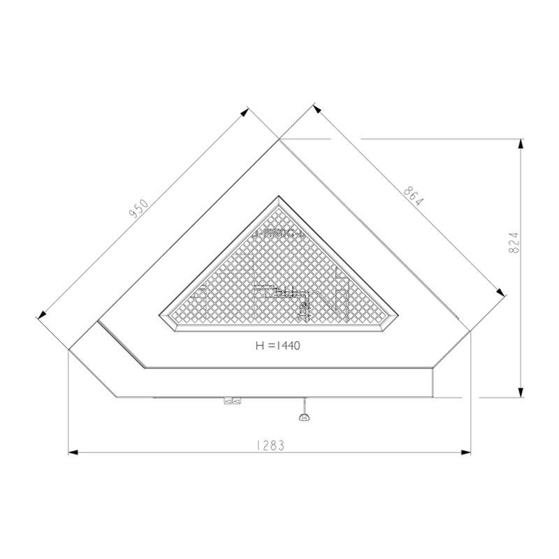haas und sohn kaminbausatz pinus ii eck. Black Bedroom Furniture Sets. Home Design Ideas