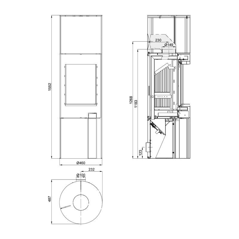 haas und sohn kaminofen ficus iii. Black Bedroom Furniture Sets. Home Design Ideas
