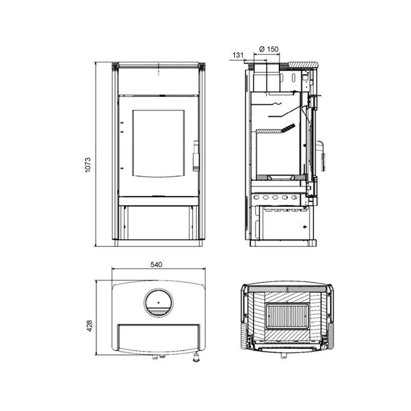 haas und sohn kaminofen montegrotto ii. Black Bedroom Furniture Sets. Home Design Ideas