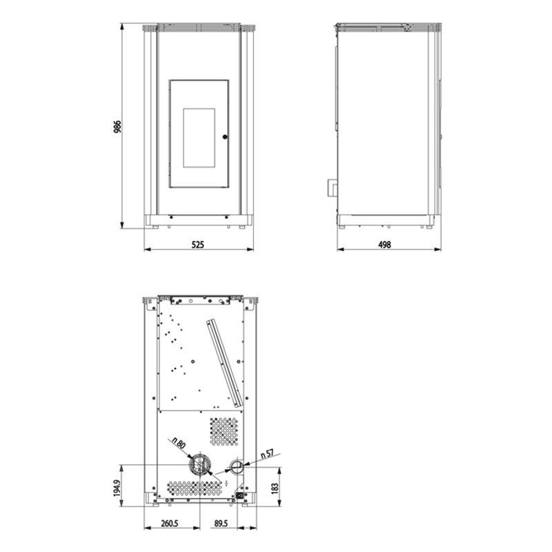 haas sohn haas und sohn pelletofen pelletto iii. Black Bedroom Furniture Sets. Home Design Ideas