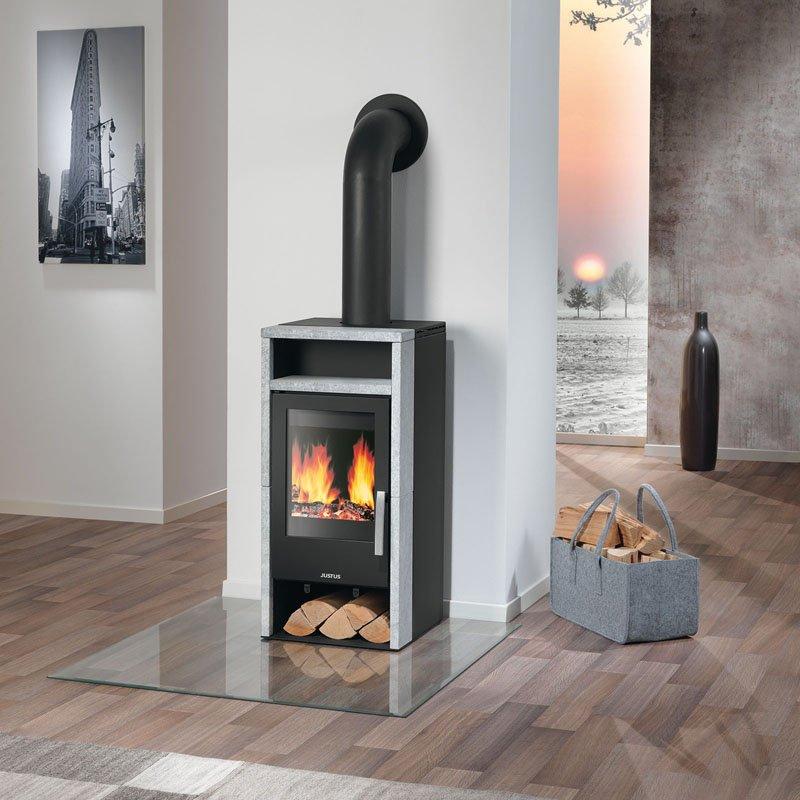 kaminofen justus mando speckstein korpus stahl schwarz. Black Bedroom Furniture Sets. Home Design Ideas