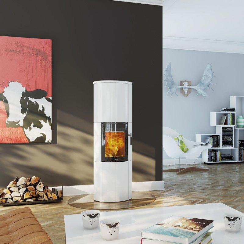 kaminofen lotus maestro kachel schwarz oder weiss. Black Bedroom Furniture Sets. Home Design Ideas