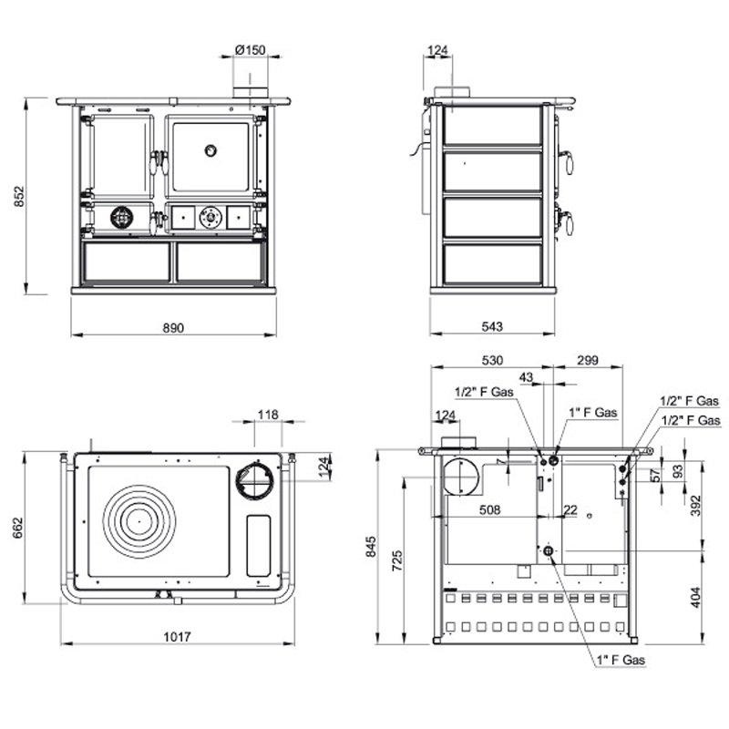 Großartig Standard Küchenherd Messungen Bilder - Küchen Ideen ...