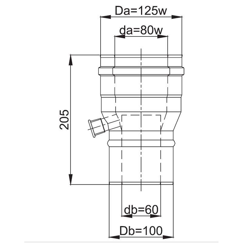 luft abgas system konzentrisch reduzierung mit. Black Bedroom Furniture Sets. Home Design Ideas