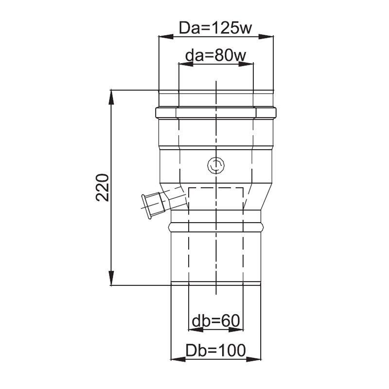 luft abgas system konzentrisch reduzierung mit messstutzen. Black Bedroom Furniture Sets. Home Design Ideas