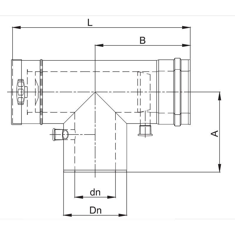luft abgas system konzentrisch t st ck 90 mit. Black Bedroom Furniture Sets. Home Design Ideas