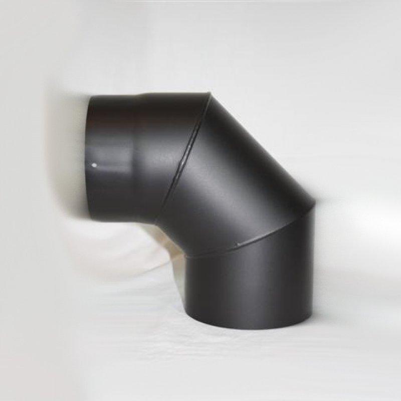 Ofenrohr Bogen 45° ohne Reinigung Stahl Senotherm-lackiert gussgrau neu Ø 130 mm