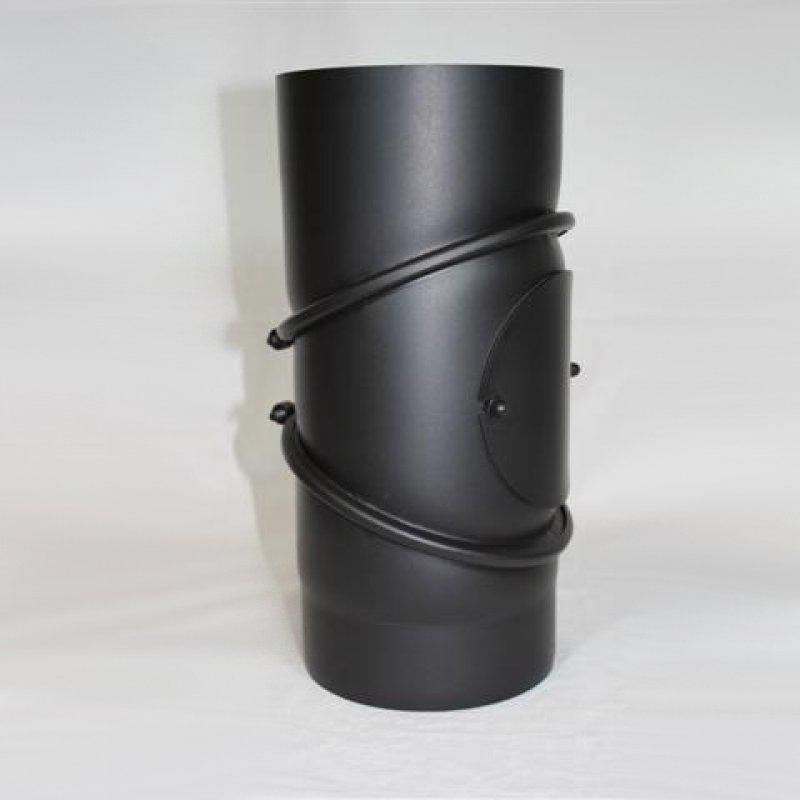 ofenrohr bogen verstellbar 0 90 mit revisions ffnung senotherm lack. Black Bedroom Furniture Sets. Home Design Ideas