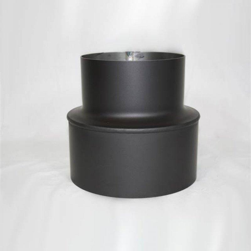 rauchrohr reduzierst ck schwarz 150 130mm kaminrohr reduzierung bergangst ck at ebay. Black Bedroom Furniture Sets. Home Design Ideas
