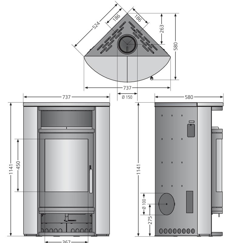kaminofen oranier polar eck. Black Bedroom Furniture Sets. Home Design Ideas