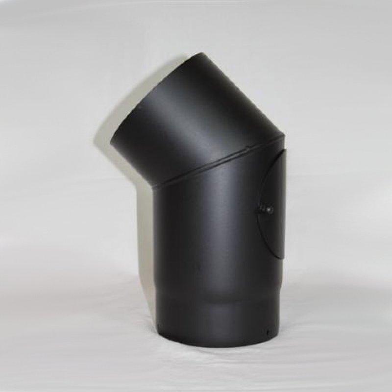 rauchrohr bogen 90 dn 200 mm eingezogen mit reinigungs ffnung schutzlackiert. Black Bedroom Furniture Sets. Home Design Ideas