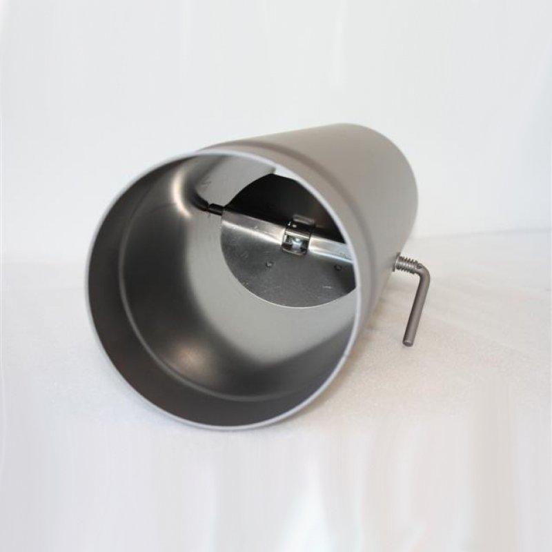 rauchrohr 500 mm dn 150 mm mit drosselklappe senotherm braun metallic 847. Black Bedroom Furniture Sets. Home Design Ideas