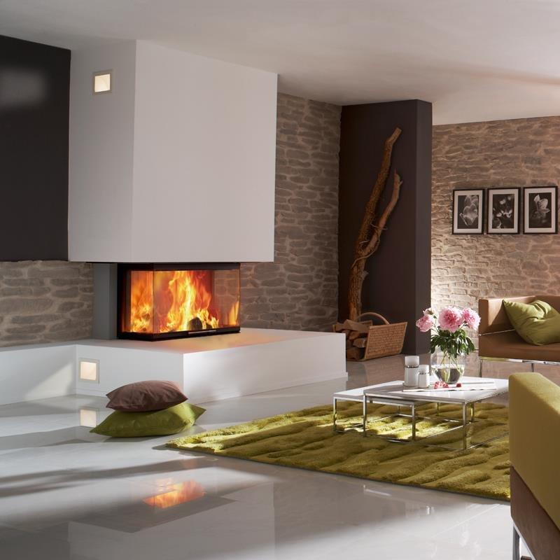 Spartherm kamin arte 3rl 80h 4s u form for Decoracion de chimeneas en salones