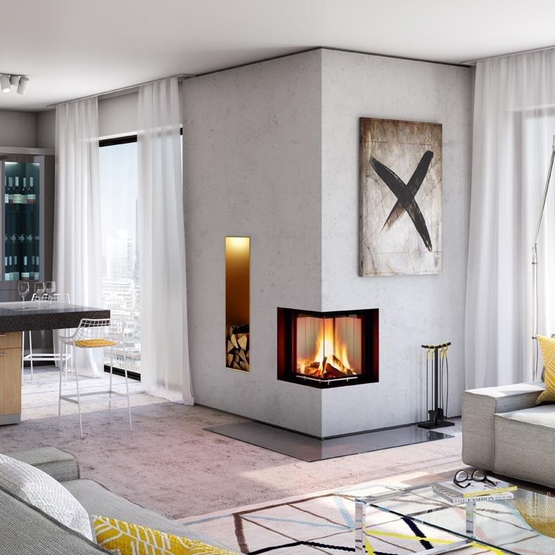 spartherm kamineinsatz mini 2lrh 4s eck. Black Bedroom Furniture Sets. Home Design Ideas