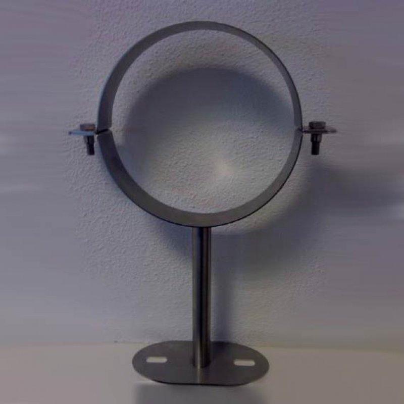 wandhalter 250 mm k rzbar f r edelstahlrohr doppelwandig dn 150 mm senotherm gussgrau 288. Black Bedroom Furniture Sets. Home Design Ideas