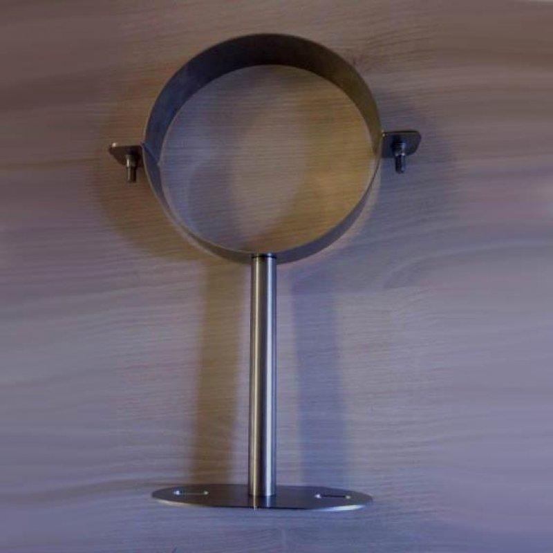 wandhalter 250 mm k rzbar f r edelstahlrohr doppelwandig dn 150 mm senotherm schwarz 310. Black Bedroom Furniture Sets. Home Design Ideas