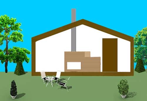 Gartenhaus mit Schornstein