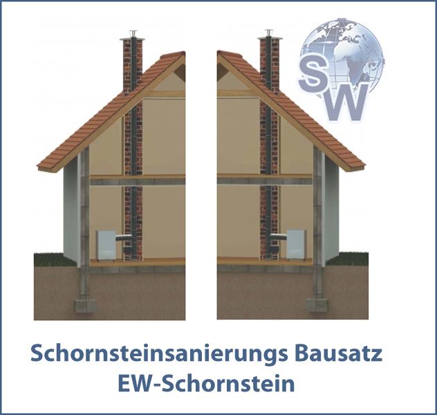 Schornsteinsanierung mit Edelstahlschornstein Bausätzen