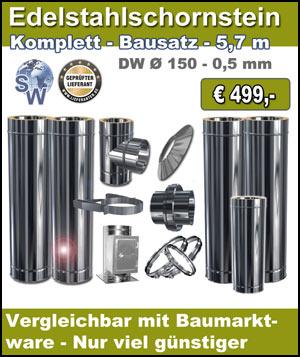 Berühmt Schornstein Bausatz & Schornsteinsanierung Edelstahlschornstein, EB63