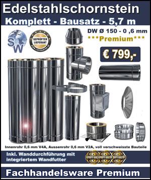 Favorit Schornstein Bausatz & Schornsteinsanierung Edelstahlschornstein, DC84